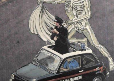 Criminal vs carabinieri 100X150cm