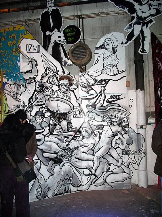 Ozmo, Urban Edge Show, Installation view, Milano 2005