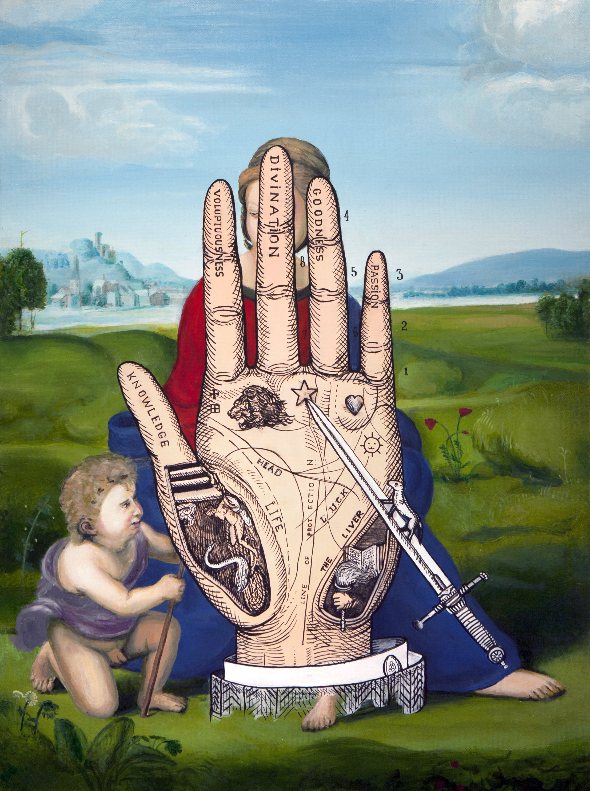 Rafael hand of the poet