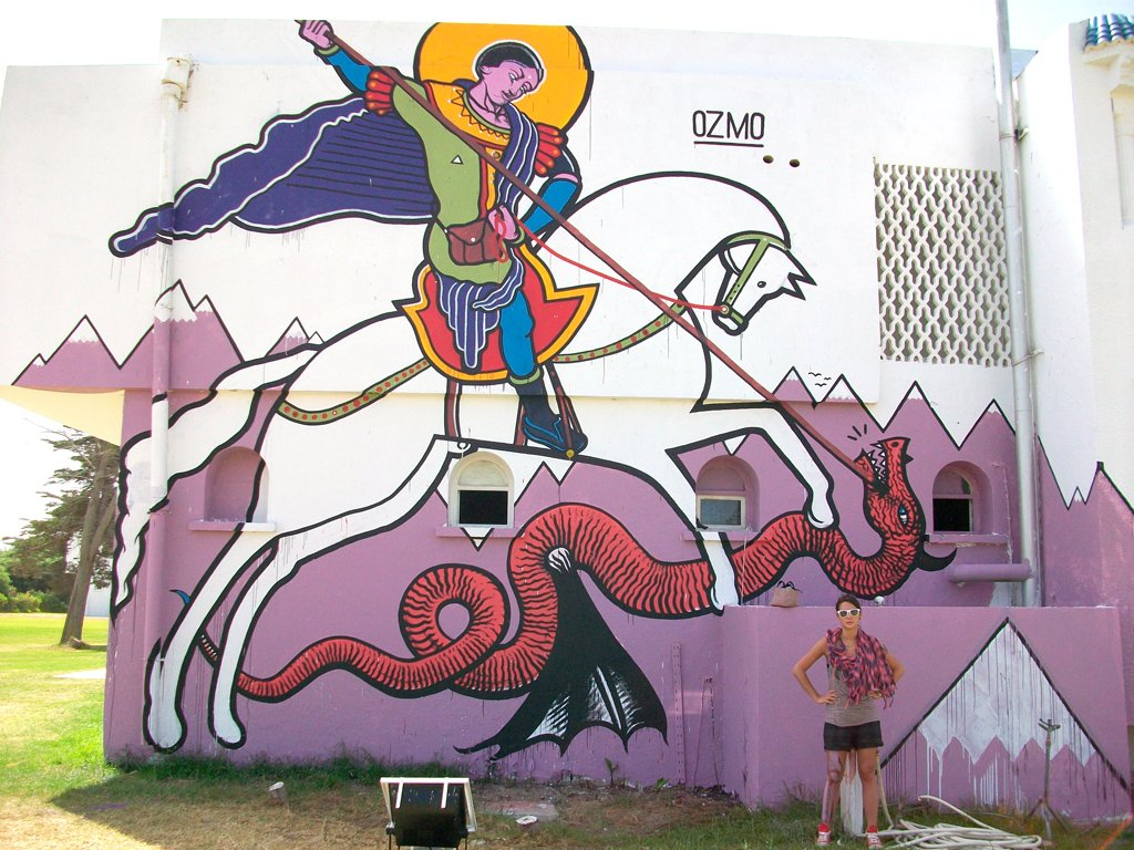 Ozmo Tunisi S.George and the Dragon Paint on Wall 2009 6x5m