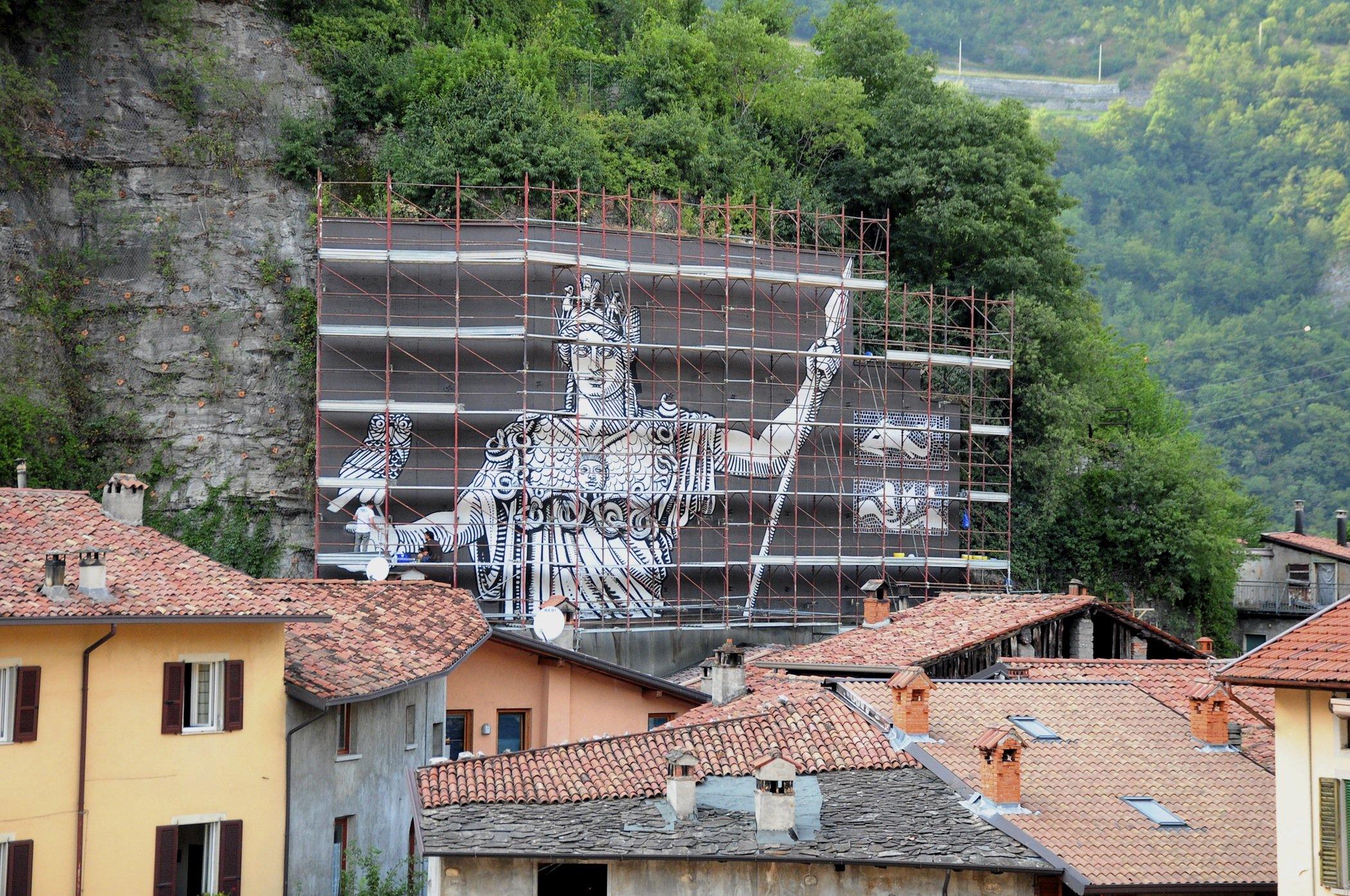 Minerva , Breno , Wall In Art 2015 work in progress
